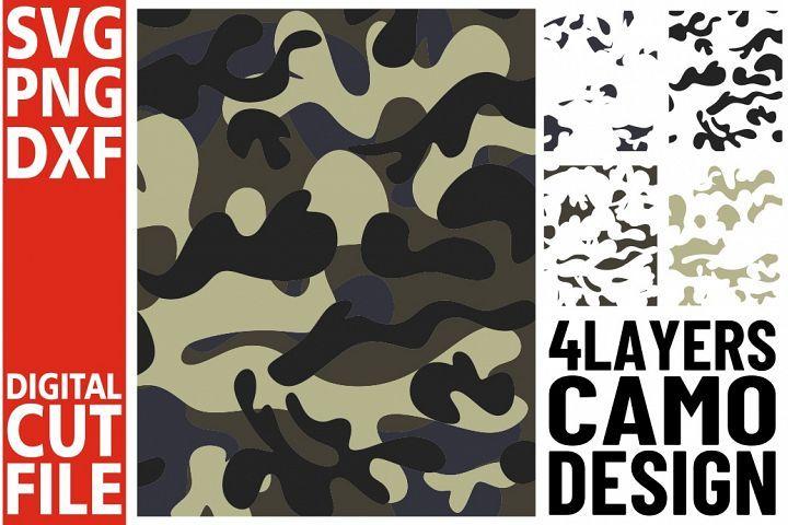 4x Woodland Camo Background svg,Army Camouflage, Military ...