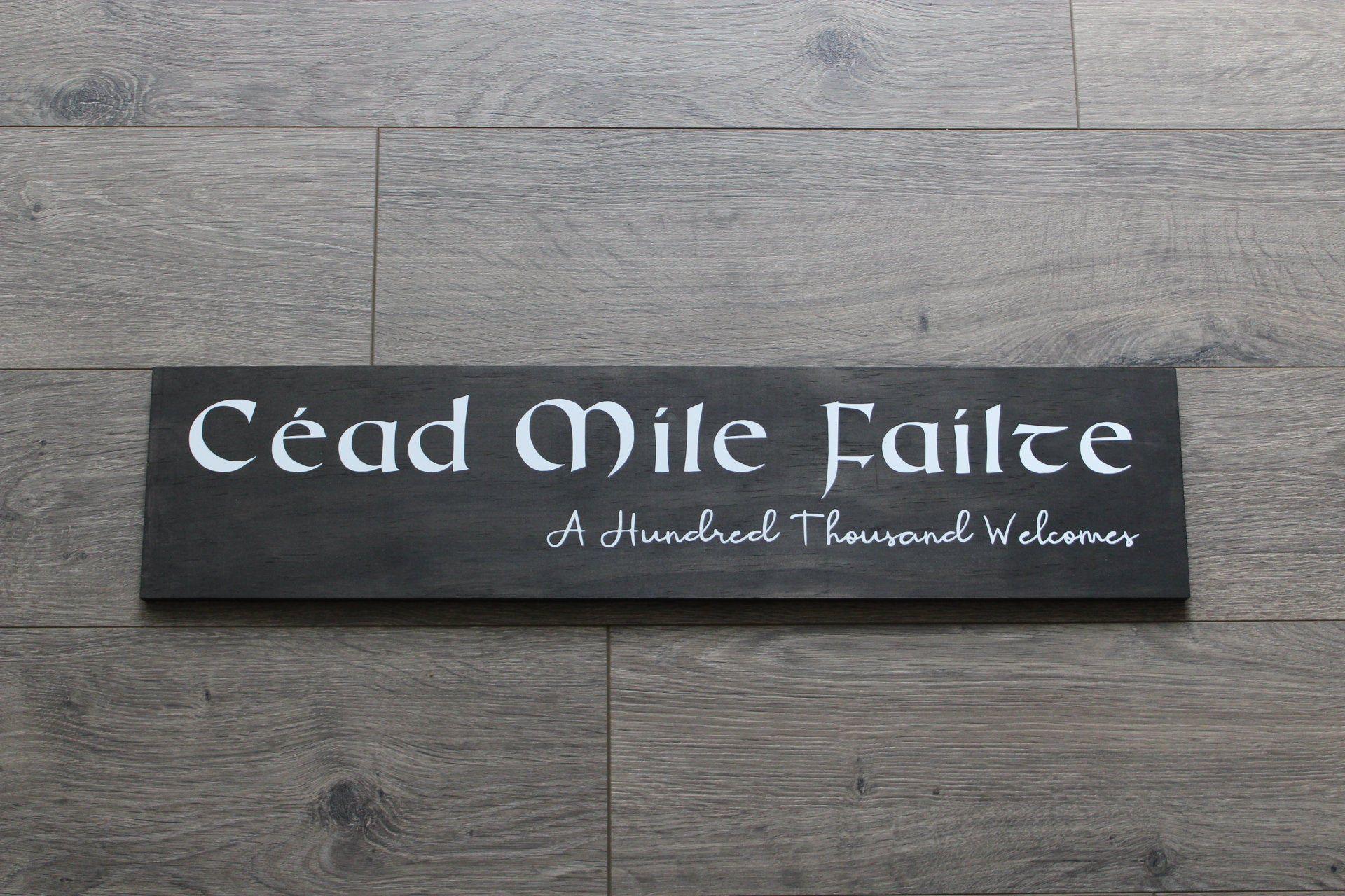 Cead mile failte sign ireland irish wedding etsy irish