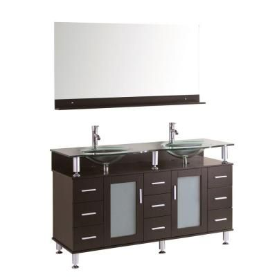 Double Bathroom Vanity Set Make A Contemporary Elegant Statement With Your By Featuring The Kokols Cerviel 72 In