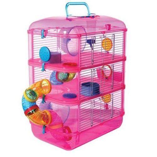 Fantasia Grand Hamster Cage Rose Petite Cage Des Animaux Avec La
