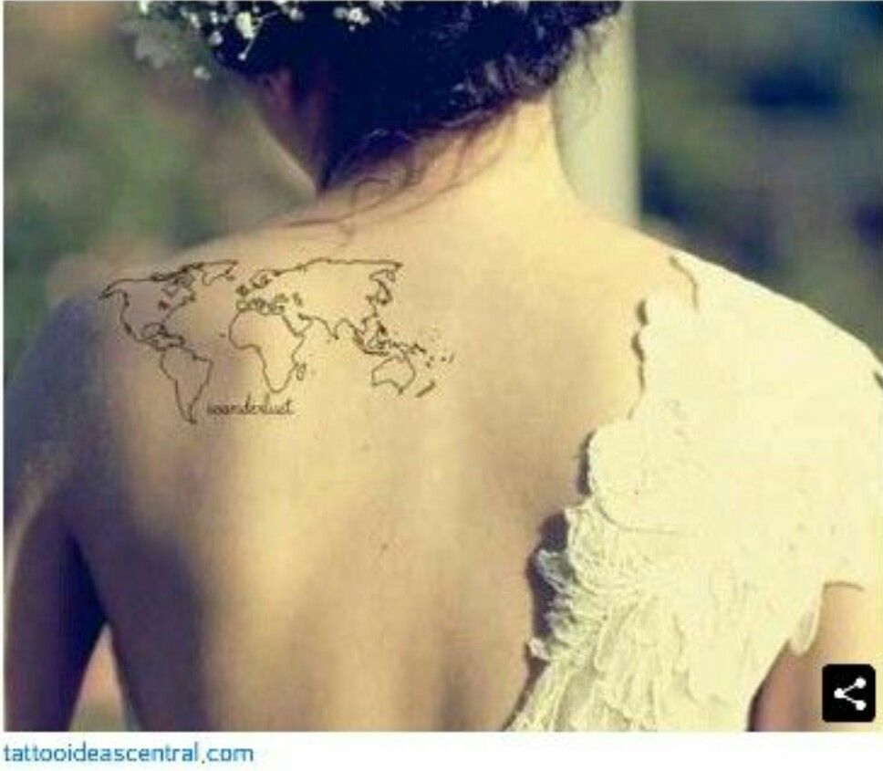 I love the placement tattoos pinterest tattoo tatuajes and tatoos i love the placement world map gumiabroncs Choice Image