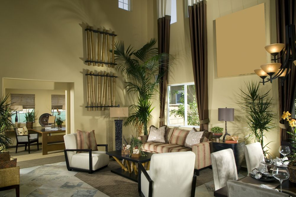CUSTOM TALL COLOR BLOCK PANEL CURTAINS - This living room & dining ...