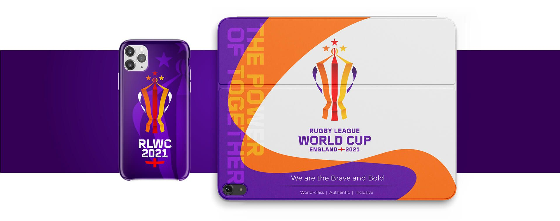 New Logo and Identity for 2021 Rugby League World Cup by