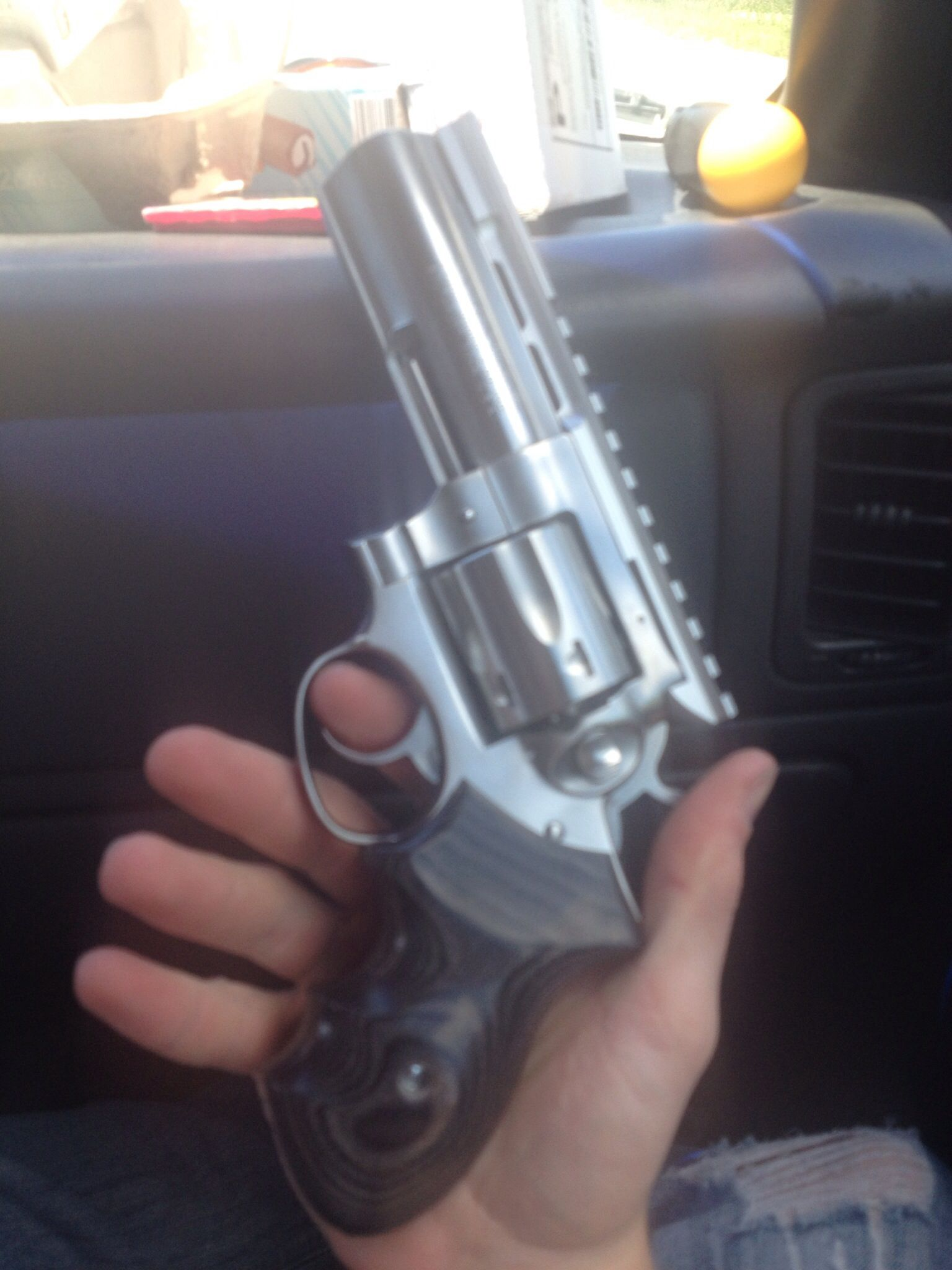 Ruger Gp100 4in With Badger Grips Guns Hand