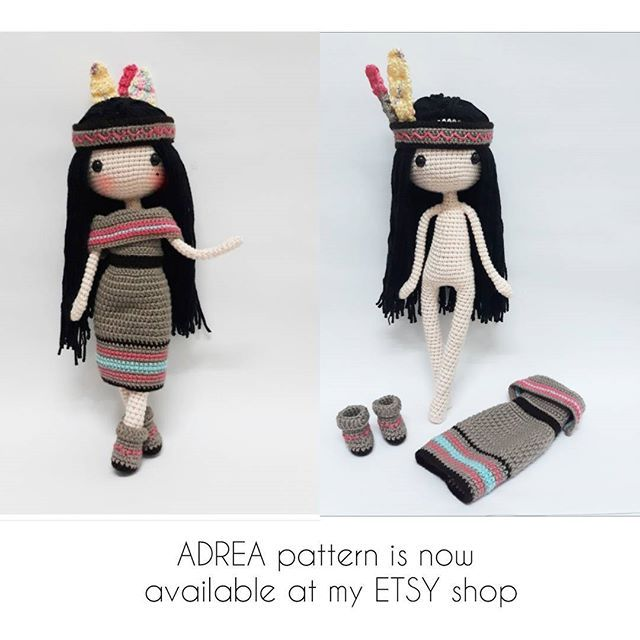 ADREA pattern is now AVAILABLE at my ETSY shop..she is 30cm / 11 ...