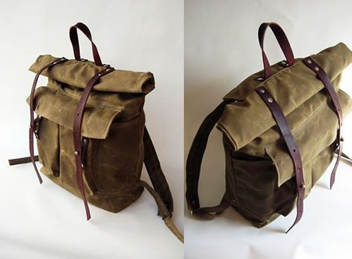 The Camper Satchel in Tan Waxed Canvas Bags-by Sketchbook ...