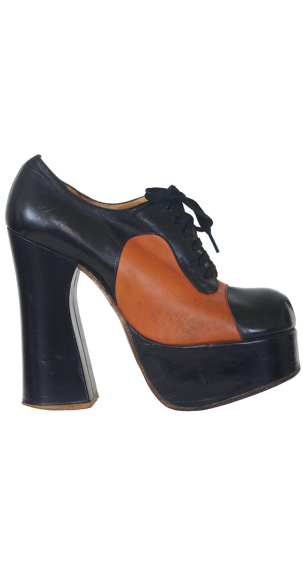purchase cheap d52fa 6de95 ... 1970 s Tony Iammatteo for Cristina Black Brown Monster Platform Shoes.  Available on Featherstone Vintage  Diadora Mondiale Soccer Boot ...