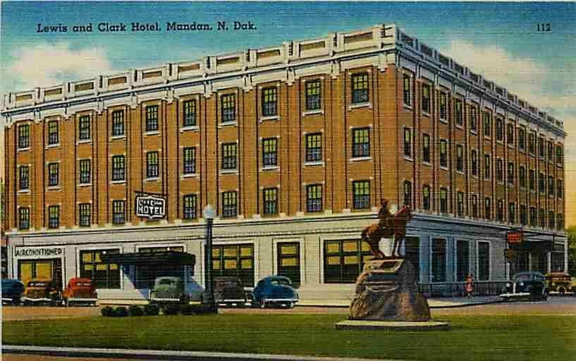 Mandan Nd Retro Business Images North Dakota 1948 Lewis And Clark Hotel