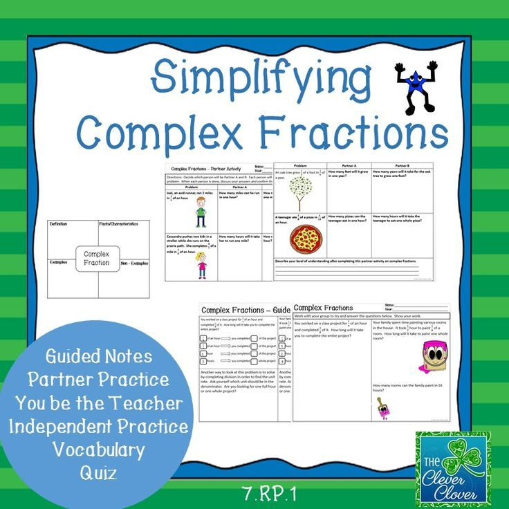 Simplifying Complex Fractions 7 Rp 1 Star Products