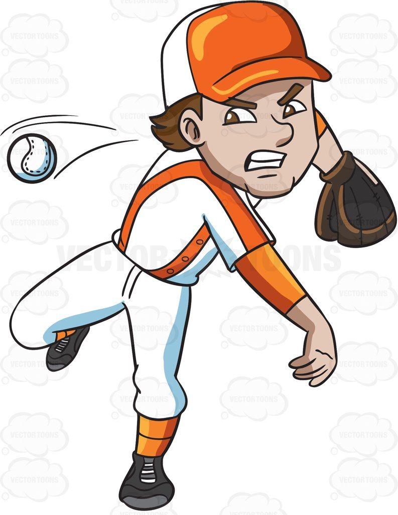 A Baseball Player Pitching A Ball | Pitch
