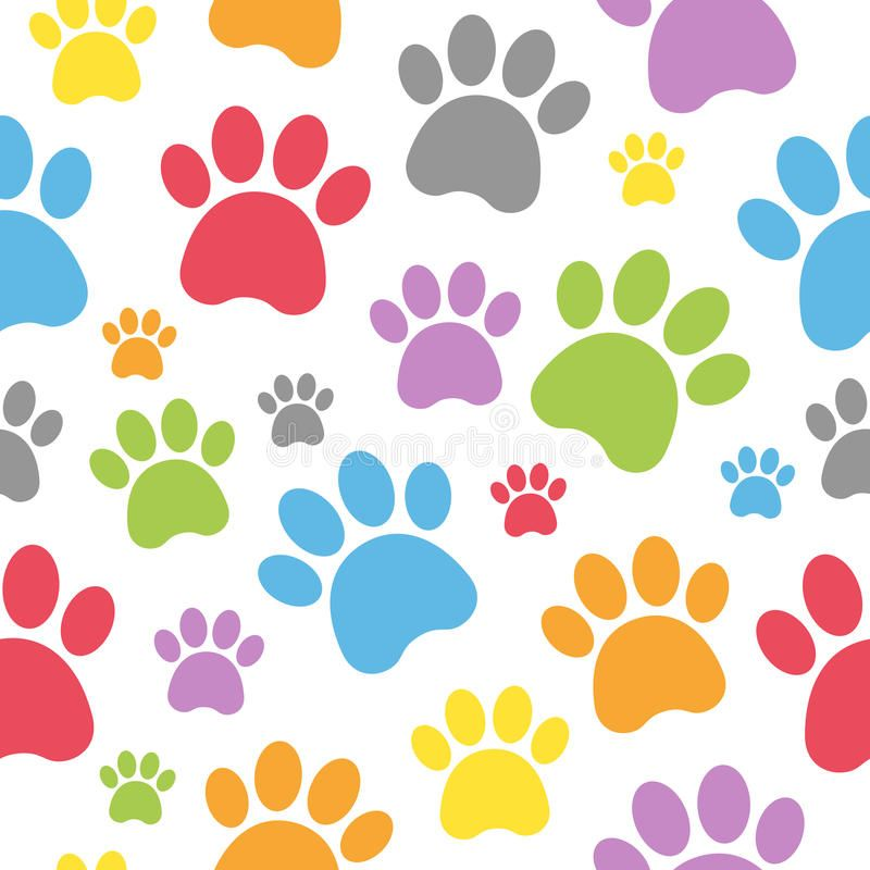 Dog Footprints Seamless Pattern An Abstract Seamless Pattern With