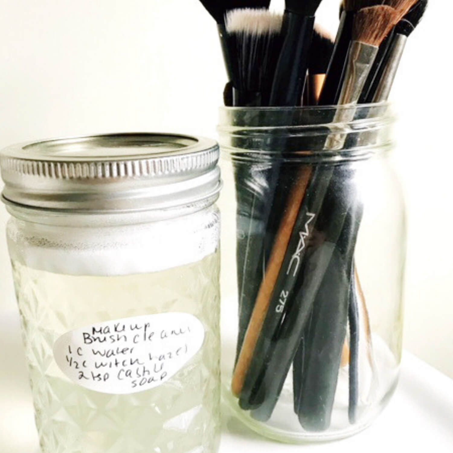 Easy Homemade Makeup Brush Cleaner Homemade makeup brush