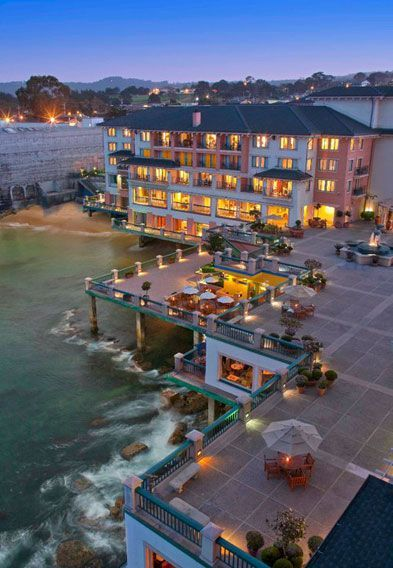 Monterey Plaza Hotel Spa Is Dramatically Located Over The Bay On Cannery Row Great Peninsula