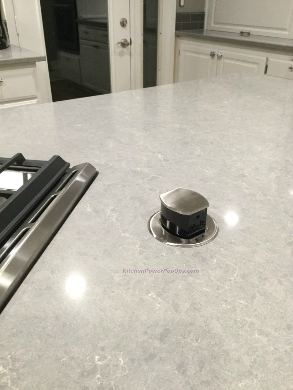 Countertop 2 Sided Spill Proof Pop Up 20a Outlet Surface Mount Nickel Pop Up Outlets Pop Up Countertops