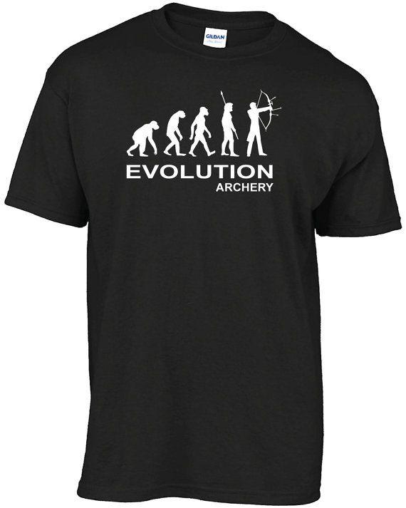 Evolution archery  t-shirt by Bergriver on Etsy