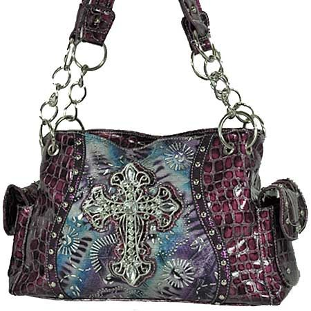Bling Purses B001 Lcr 939 Purple Whole Western Rhinestone Pistol Handbags