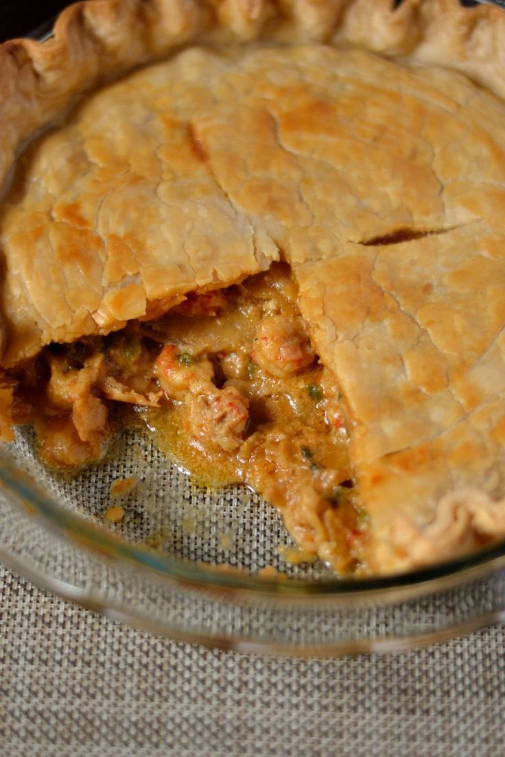 Louisiana Crawfish Pie #cajunandcreolerecipes