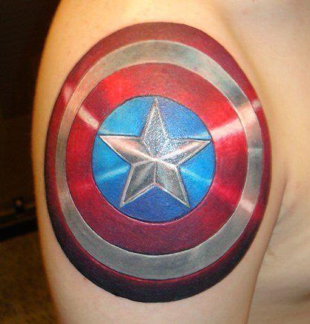 captain america tattoo - Google Search