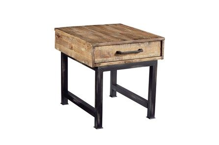 Magnolia Home Pier And Beam End Table By Joanna Gaines Multicolor 299 Magnolia Homes