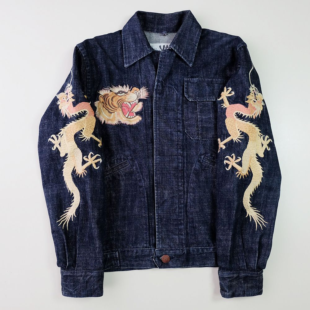 Yamane Evisu Vintage Japanese Japan Monkey Gorilla Ape Tattoo Art Embroidery Embroidered Bomber Sukajan Souvenir Denim Jacket Denim Jacket Denim Japanese Embroidery [ 1000 x 1000 Pixel ]