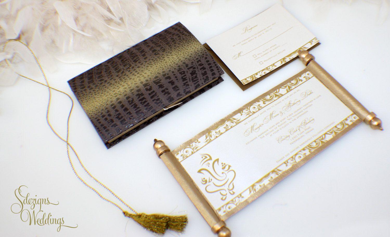 Gorgeous Ganesh Indian Wedding Invitation Scroll 2.0 | Indian ...