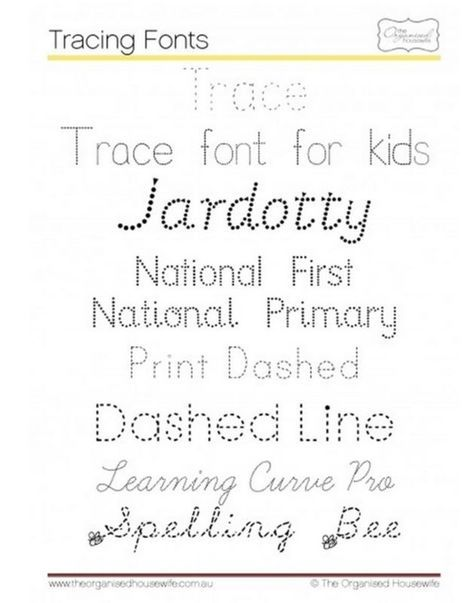 6 Free Tracing Fonts For Kids Pinterest Cursive And Teacher