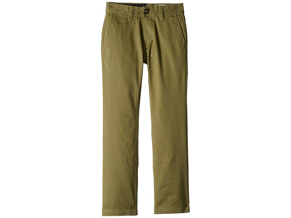 Volcom Kids Frickin Modern Stretch Chino Pants Big Kids Vineyard Green Boys Casual Pants Stop frickin around and cop these legit chino pants before your swagger gets take...