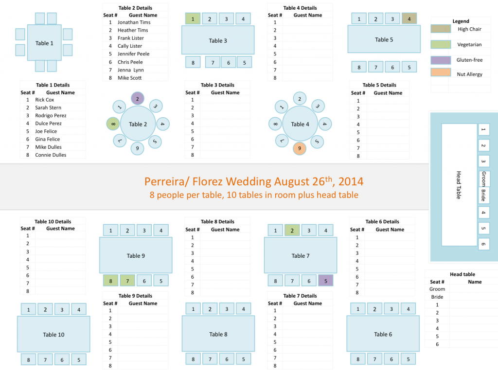 Wedding Seating Chart Template Our Wedding Inspirations