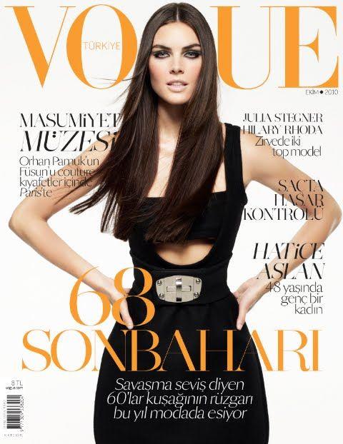 Hilary Rhoda on Vogue Turkey, October 2010