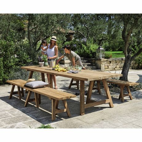 12 14 Seater Recycled Teakholz Garden Table L300 Resin Patio