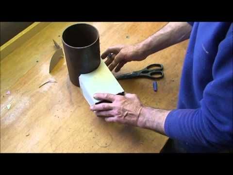Making A Rocket Stove Riser Tube And Creating A Vortex