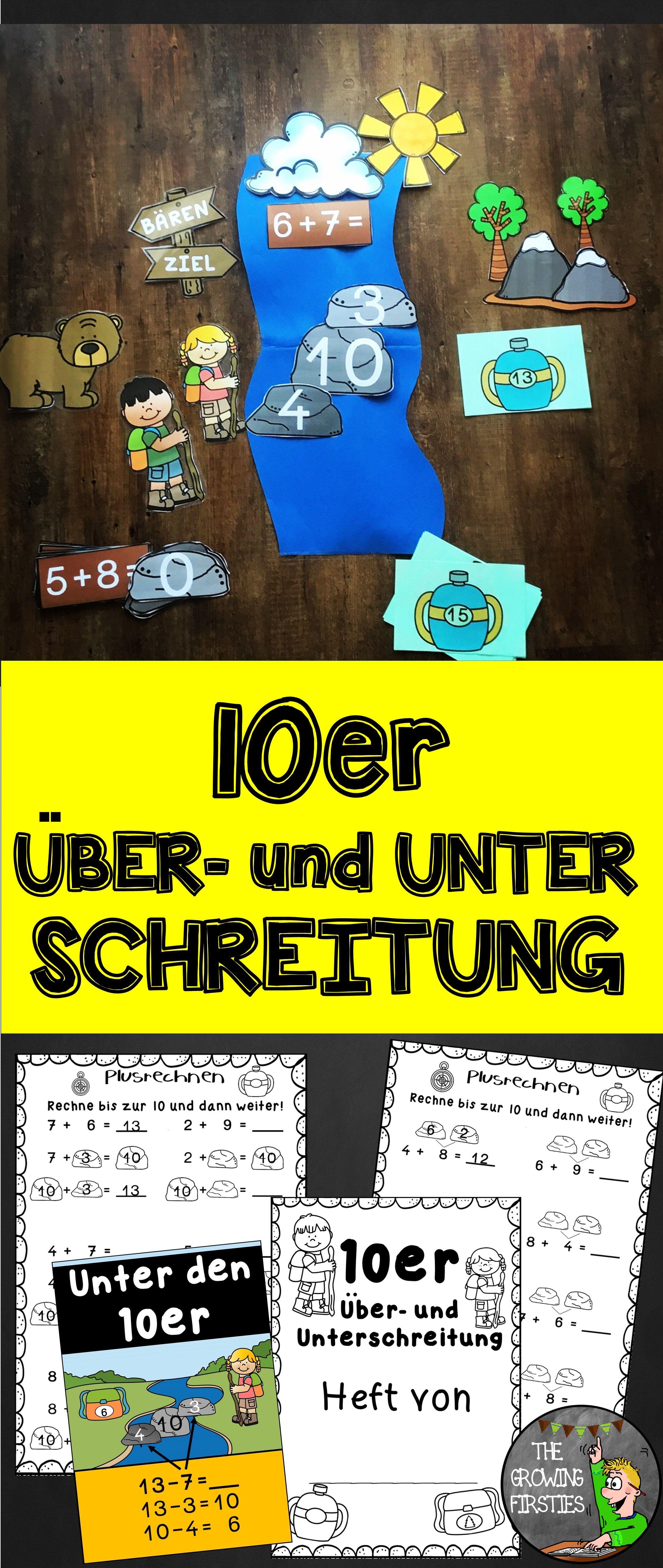 Materialpaket 10er Über- und Unterschreitung sowie Zahlenzerlegung ...