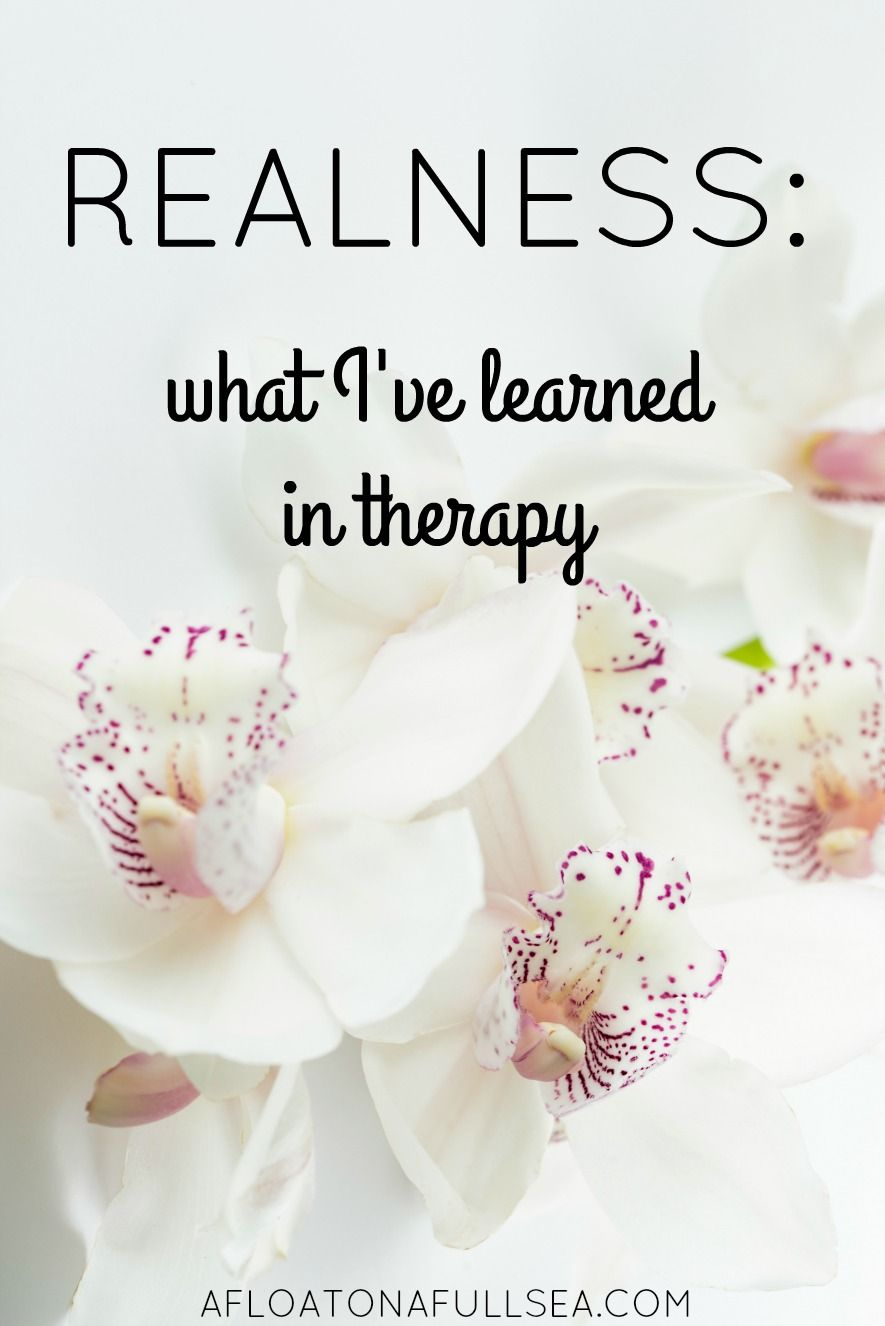 Realness: What I've Learned From Therapy - afloat on a full sea.