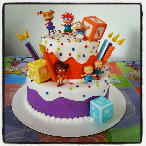 Cool Rugrats Cake Cakesbykimberly Biz With Images 1St Funny Birthday Cards Online Necthendildamsfinfo