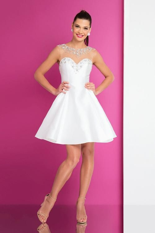 Terani Couture Crystal Trimmed A Line Dress | Products | Pinterest