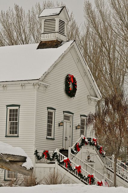Country Church All Decorated For Christmas Is Such A Splendid Sight