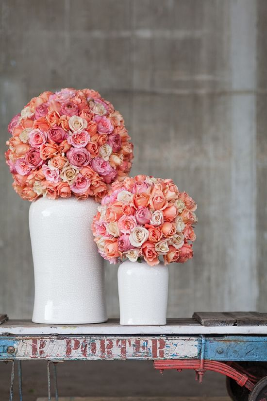 McQueen's dome design using the British garden roses for British Flowers Week 2014 at New Covent Garden Flower Market