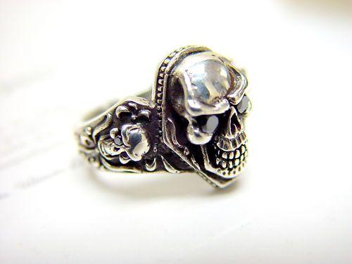 529 Black Diamond Skull Ring Diamond Skull Mens Skull