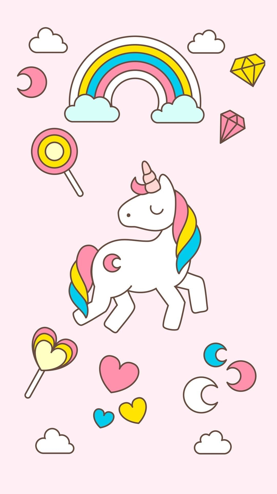 5 Top Kawaii Images For Your Android Or Iphone Wallpapers Unicorn Wallpaper Cute Unicorn Unicorn Backgrounds