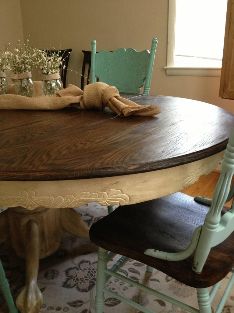 Old To New Fresh Oak Dining Table Chairs Love This Look This