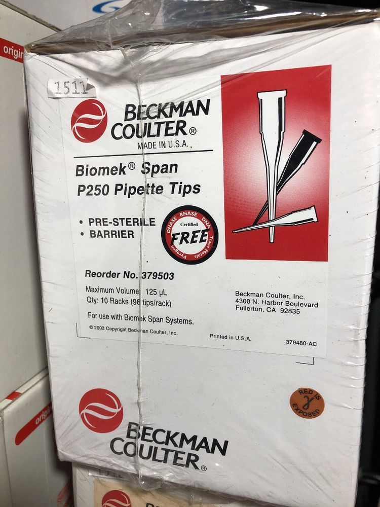 Beckman Coulter Biomek P250 Pre-Sterile Barrier Tips for