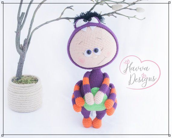Bonnie With Spider Costume Downloadable Crochet Pattern Häkeln