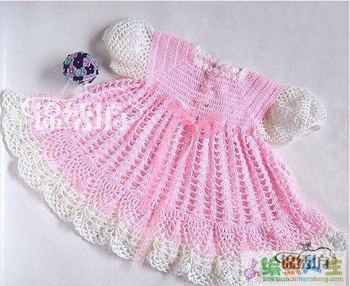 vestidos para bebe a ganchillo patrones (2) | Tejidos | Pinterest ...