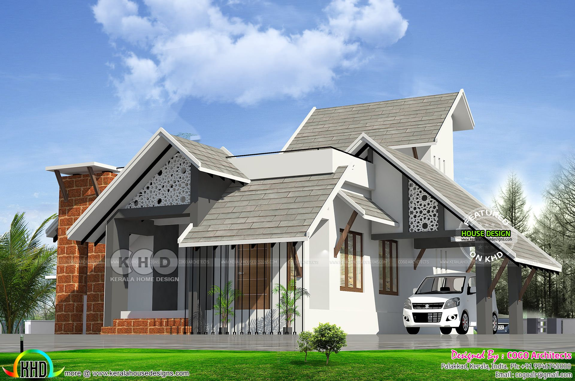 2 Bedroom 1100 Sq Ft Ultra Modern Sloped Roof House House Roof House House Elevation