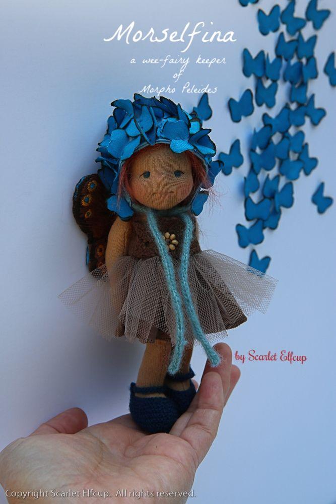 Morselfina, a wee-fairy keeper of Morpho Peleides by Scarlet Elfcup. www.scarletelfcup.com