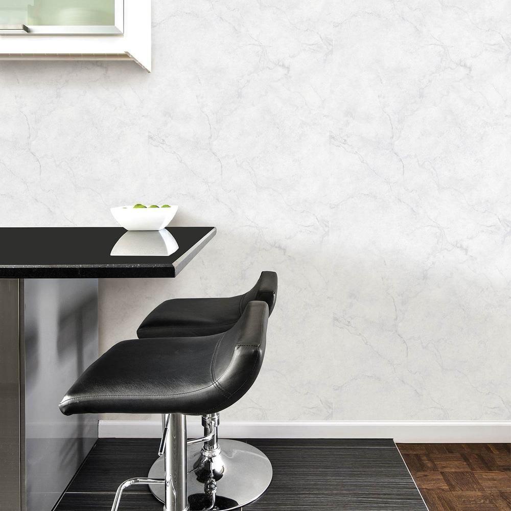 White Marble Temporary Wall Paper Dorm Wallpaper Dormify Peel And Stick Wallpaper Nuwallpaper Home Decor