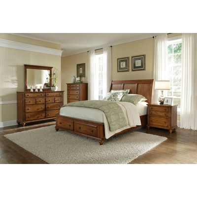 Buy Low Price Broyhill Hayden Place Sleigh Headboard Finish: Golden ...