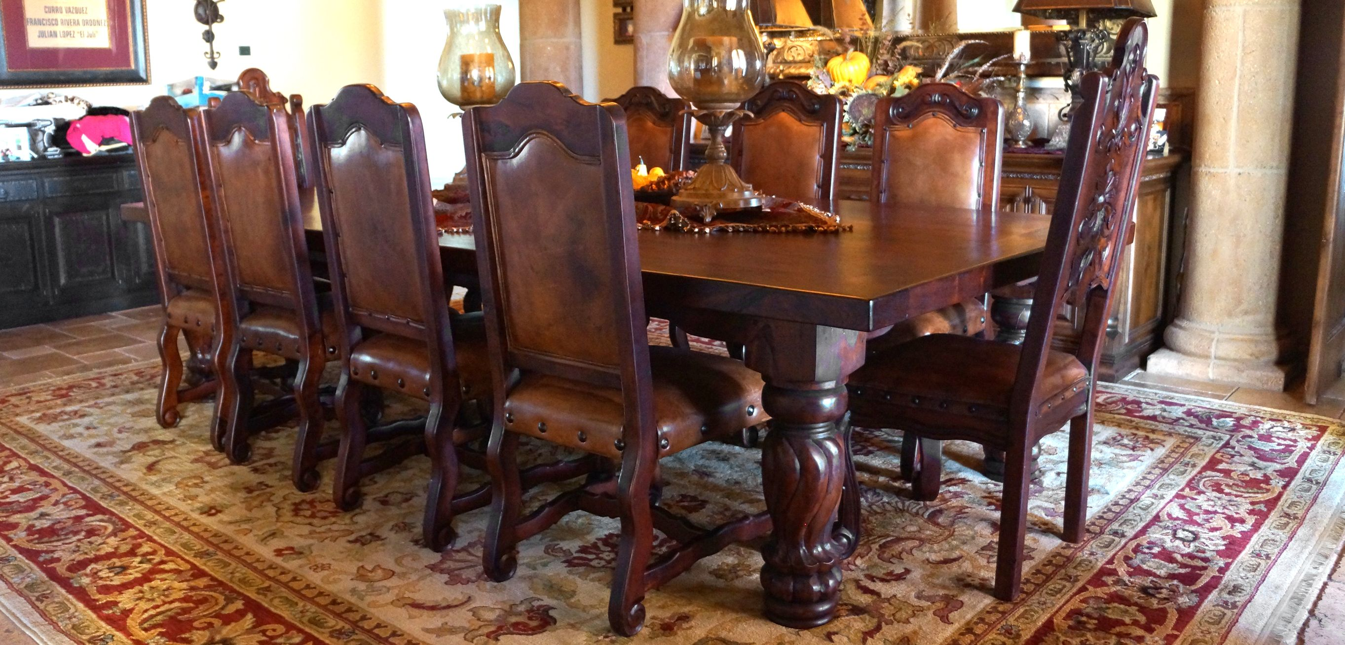 3 Furnishing Mexican Furniture Rustic Dining Room Sets Mexican