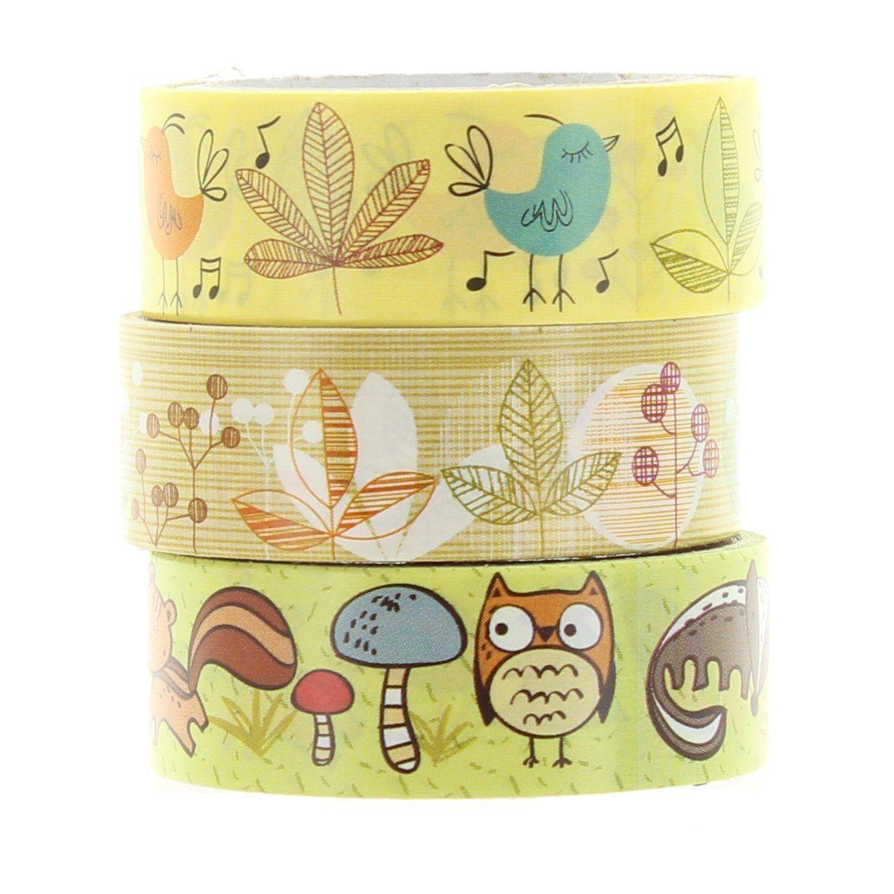 Woodland autoadesivo Masking Tape 3 rotoli Confezione: Amazon.it: Casa e cucina