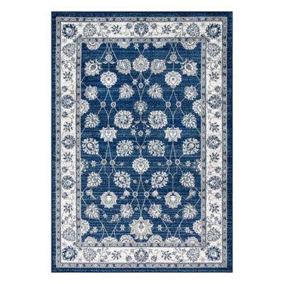 Jonathan Y Vintage Moroccan 7 9 X 10 Area Rug In Navy Light Grey